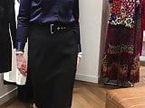 long, black pencil skirt