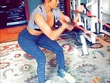 Jennifer Lopez working out