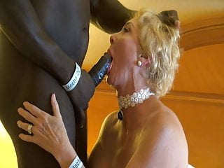 Voyeur Milf Mature video: Blonde Gilf and  Black Strong Man.