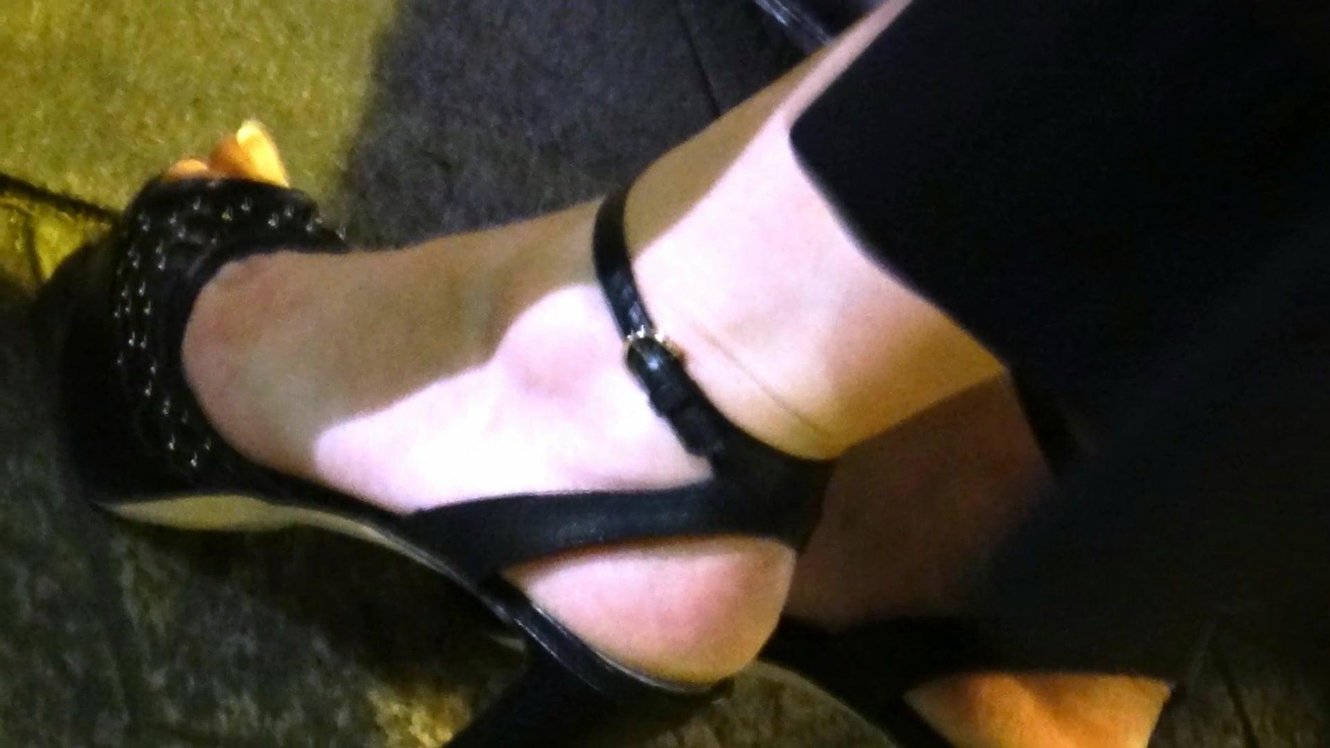 Hot Brunette High Heels