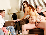 Cuckold Hubby Watches Wife Allison Moore Bouncing on a Cock