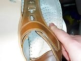 Cum on my girlfriend shoes 29# huge blast