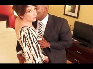 Milfs Amateur Interracial vid: Her Black Bull lover fucks her like the whore that she is