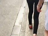 Teen in legging street