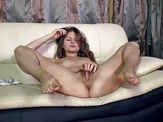 Fingering Brunette Milf vid: Elena May - you watch me jerking off