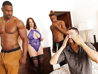 Maggie Green Fucks Two Big Black Dicks - Cuckold Sessions