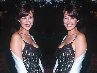Femdom Brunette Big Tits video: Catherine Bell pics with Techno music
