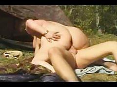 BBW PAWG dostaje anal fuck na zewnątrz