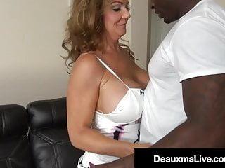 Blowjob Big Tits movie: Busty Texas Mommy Deauxma Fucks Big Black Cock To Erase Debt