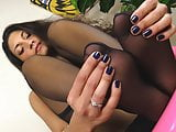Teen In Stockings Hot Foot Massage