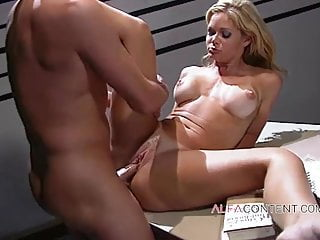 Blonde Big Tits Facial video: Blonde babe screwed by doctor in his office