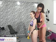 Fitness Rooms Big tits British MILF