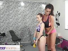 Fitness Rooms Big tits British MILF