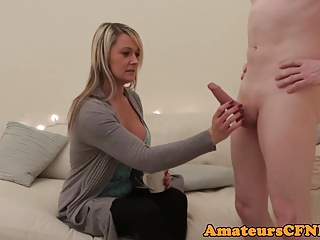 Mature and handjob