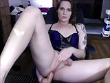 Shemale Milf Dildoing Her Asshole