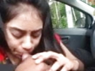 Hardcore Blowjob video: indian cute girl blow job in car