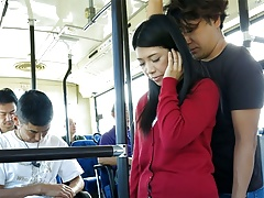 Japanese Dark-haired, Aimi Nagano Got Fucked In The Bus, Uncens
