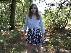 Die 18-jährige Teenagerin macht ihr erstes Porno-Casting