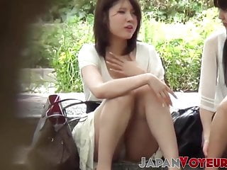 Asian Voyeur High Heels video: Japanese babes get their panties filmed by voyeur