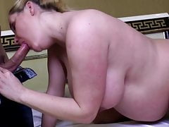 Pregnant mature mom with milky tits fucked by young boy