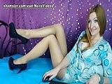 WM 589 Sexy Girl suntan Pantyhose Legs