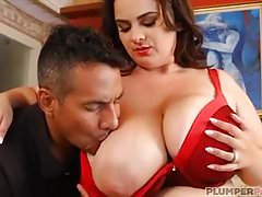 Sexy Busty BBW Mom Kimberleigh Fucks Hubbys Friend