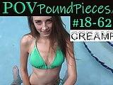 SUPER Hottie POV Creampie and BJ  #18-62