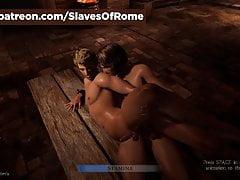 Slaves Of Rome Game - In-Game Fucking Scena schiava di sesso maschile
