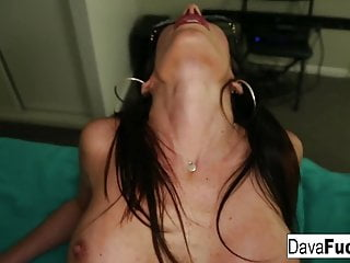 Brunette Big Tits Hd Videos video: POV Sex with glasses wearing cutie Dava