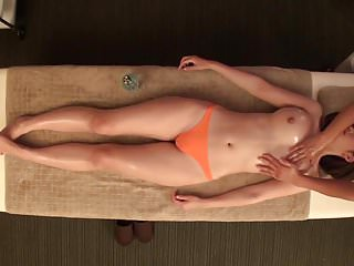 Asian Japanese Massage vid: JAV star Asahi Mizuno CMNF erotic oil massage Subtitled