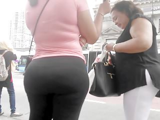 Bubble Booty Latina at Bus stop