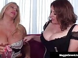 Curvy Blondes Maggie Green & Karen Fisher Get Each Other Off