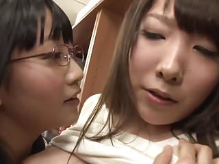 Lesbians Asian Japanese video: Asian Schoolgirl Makes Teacher Squirt in Library