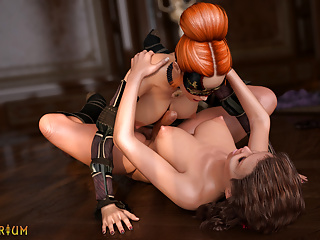 Cartoon Hd Videos video: 3D Futanari animation. Assassin dickgirl attacks Futa Lady