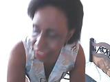 Black mature  mom on cam