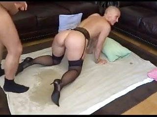 Squirting Swedish Compilation video: The Happy Bald Pair - At nine different times!