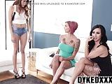 Crazy tattooed MILFs having a wild dyke trio with stepteen