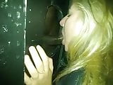 cuckold watches Wife sucks bbc at gloryhole