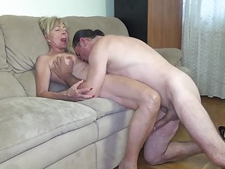 Granny Cumshot Cum In Mouth video: Granny fucked by the painter!