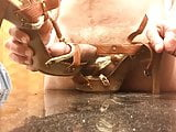 Wooden High Heel Sandals Fucked