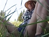 Farting on outdoor! Amateur!
