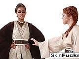 Jedi Skin Diamond teaches new recruit Penny Pax the force
