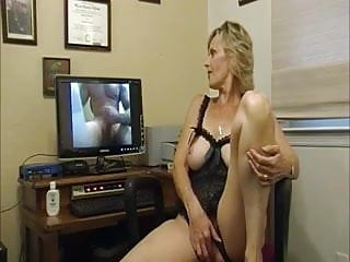 Hairy Blonde Blowjob video: Hot Awesome Gorgeous Granny Virtual Cuckolding