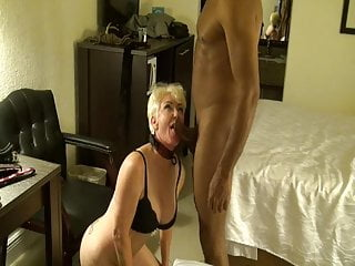 Swingers Blowjob Milf video: Blonde Mature Milf Sucks BBC. MotherFucker