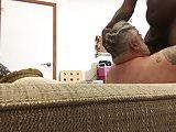 Big bear sucking dick