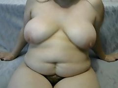 donna grassa con la figa pelosa