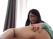 pretty girl asian show her big butt