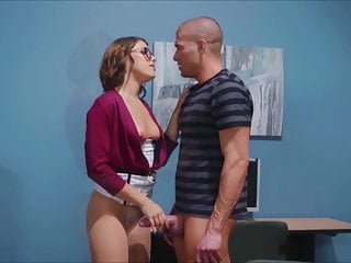 Stockings Small Tits Pornstar video: Adriana Chechik Librarian
