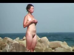 Fühlen Sie sich selbst Strand Voyeur