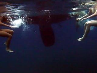 Czech Beach Teen video: Submerged Hot Babes Underwater